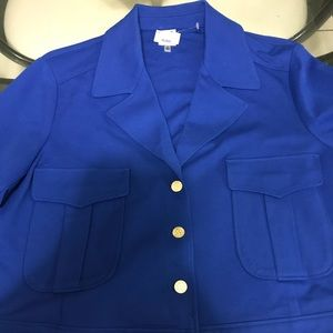 Anne Klein Short Spring Jacket NWT Size XL Royal